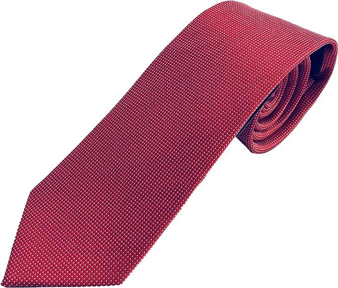 Corbata de hombre roja, corbata roja, corbata hombre burdeos ...