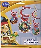 Jake y los Piratas del remolino Decoraciones Neverland (paquete de 6)