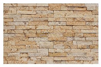 AuBergewohnlich 1 Muster W 014 Travertin Gold Wand Design Verblender Steinwand Naturstein  Fliesen Lager Verkauf
