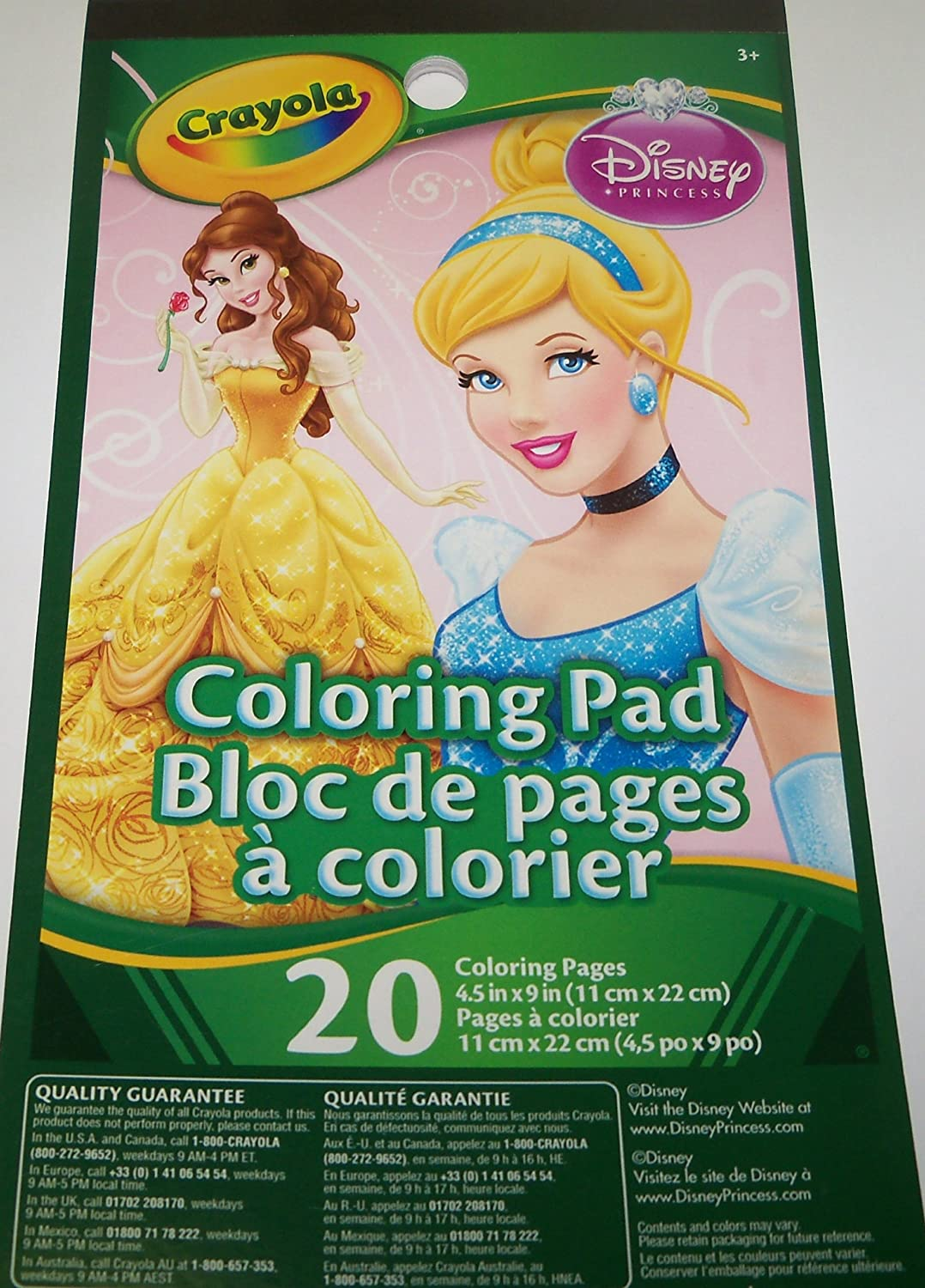 Amazon.com: Disney Princess Coloring Pad by Crayola ~ Belle and ...