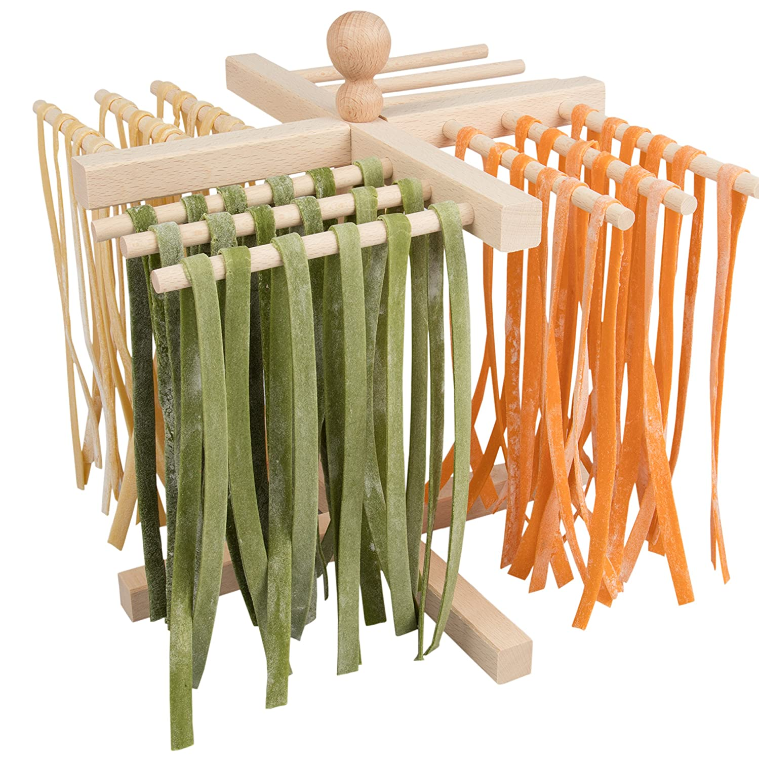 GDS Imperia Italian Wooden Pasta Drying Stand Kitchen Craft PASTASTAND