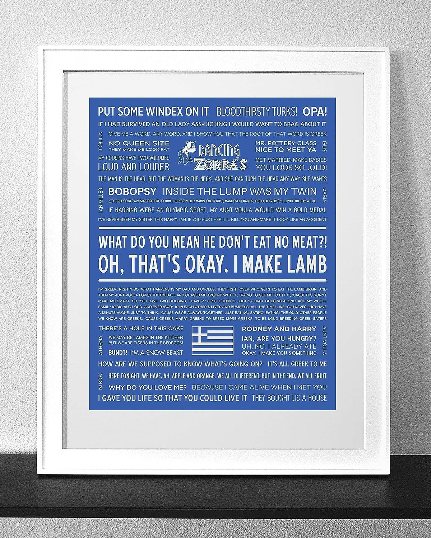 My Big Fat Greek Wedding Quotes.Amazon Com My Big Fat Greek Wedding Typography Quote Art