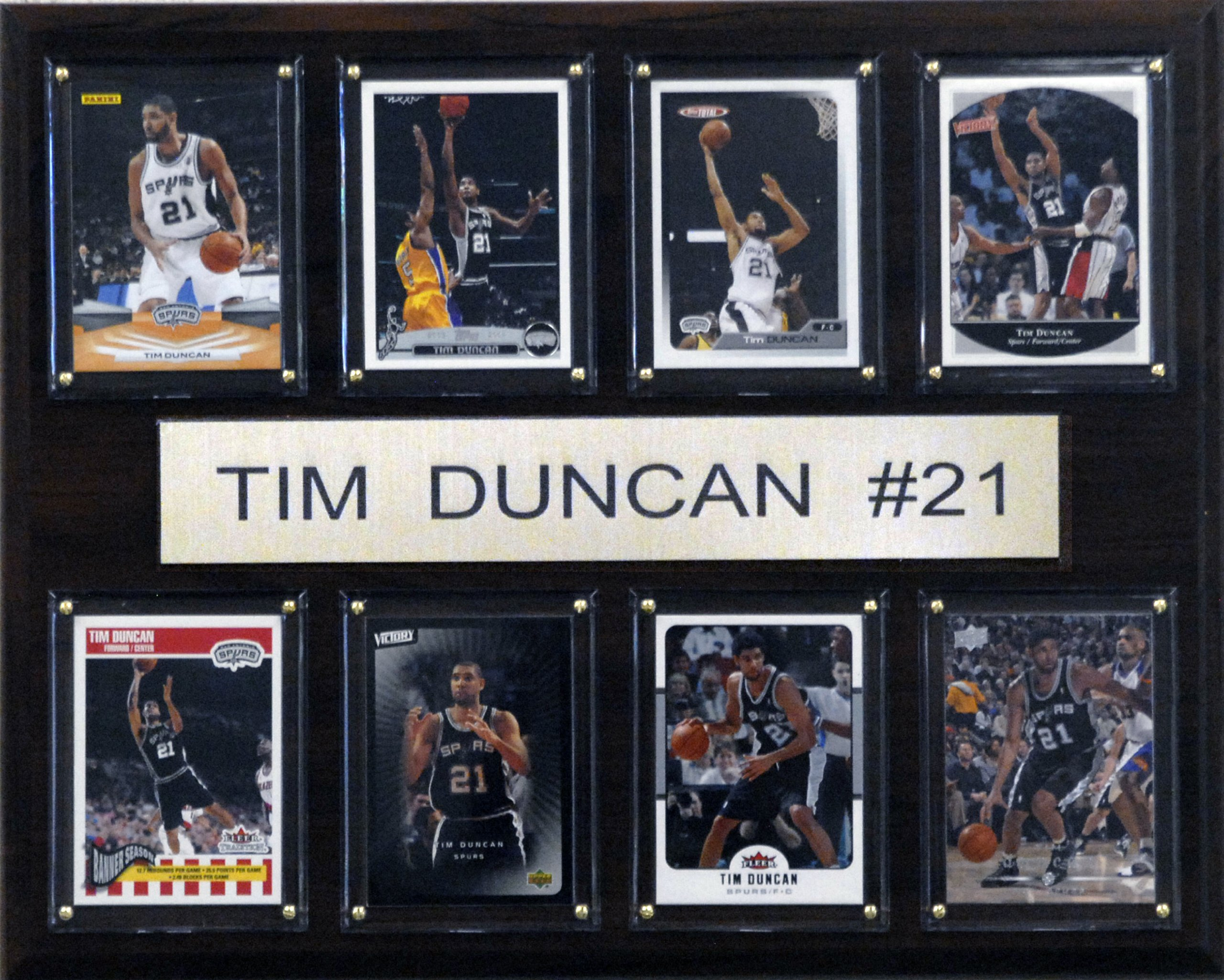 NBA Tim Duncan San Antonio Spurs 8 Card Plaque by C&I Collectables