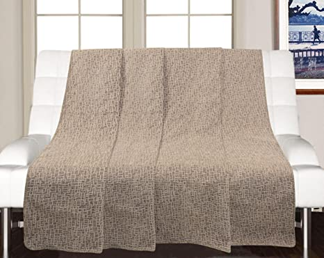 Saral Home Soft Decorative Synthetic Chenille Sofa Covers Throw
