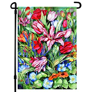 Home4Ever Bright and Cheerful Summer Garden Flags 12.x18 Double Sided - Premium Printed Art Floral Garden Flag - Decorative Seasonal House Welcome Garden Flag for Outdoor, Yard, Lawn, Deck, Patio - Suits Standard Stands