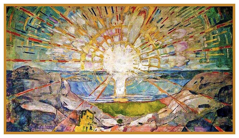 Orenco Originals The Sun Symbolist Artist Edvard Munch Counted Cross Stitch Pattern