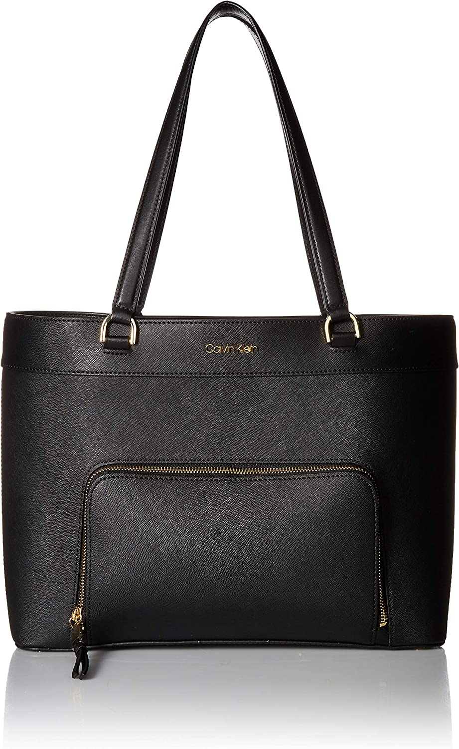 Calvin Klein Louise Saffiano Leather Key Item Tote