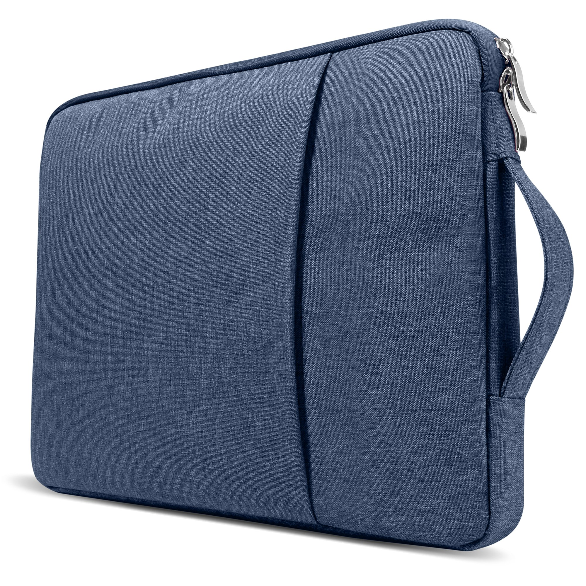 GMYLE 2 in 1 Bundle Soft-Touch Frosted Hard Case for Macbook Air 13 inch (Model: A1369/A1466) and 13-13.3 inch Water Repellent Laptop Sleeve with Handle and Pocket - Navy Blue by GMYLE (Image #2)