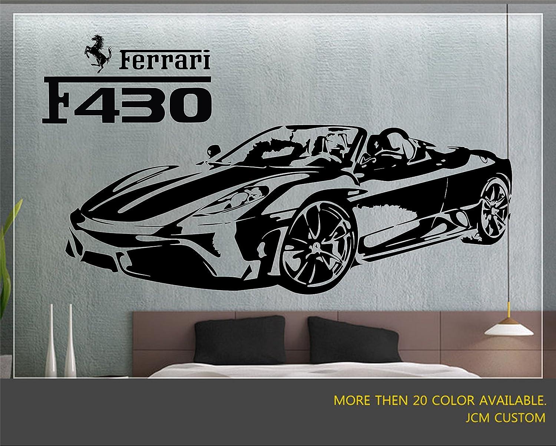 Ferrari F430 Spider Sport Racing Car Wall Decal Art Mural Vinyl Sticker