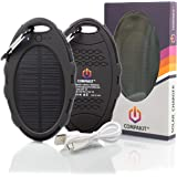 Solar Phone Charger | New Solar Power Bank Sporty Design With High Capacity 8000 mAh | Portable Solar Panel, Dual USB Ports For Universal Device Compatibility | Cell Phone Power Charger | Compakit™