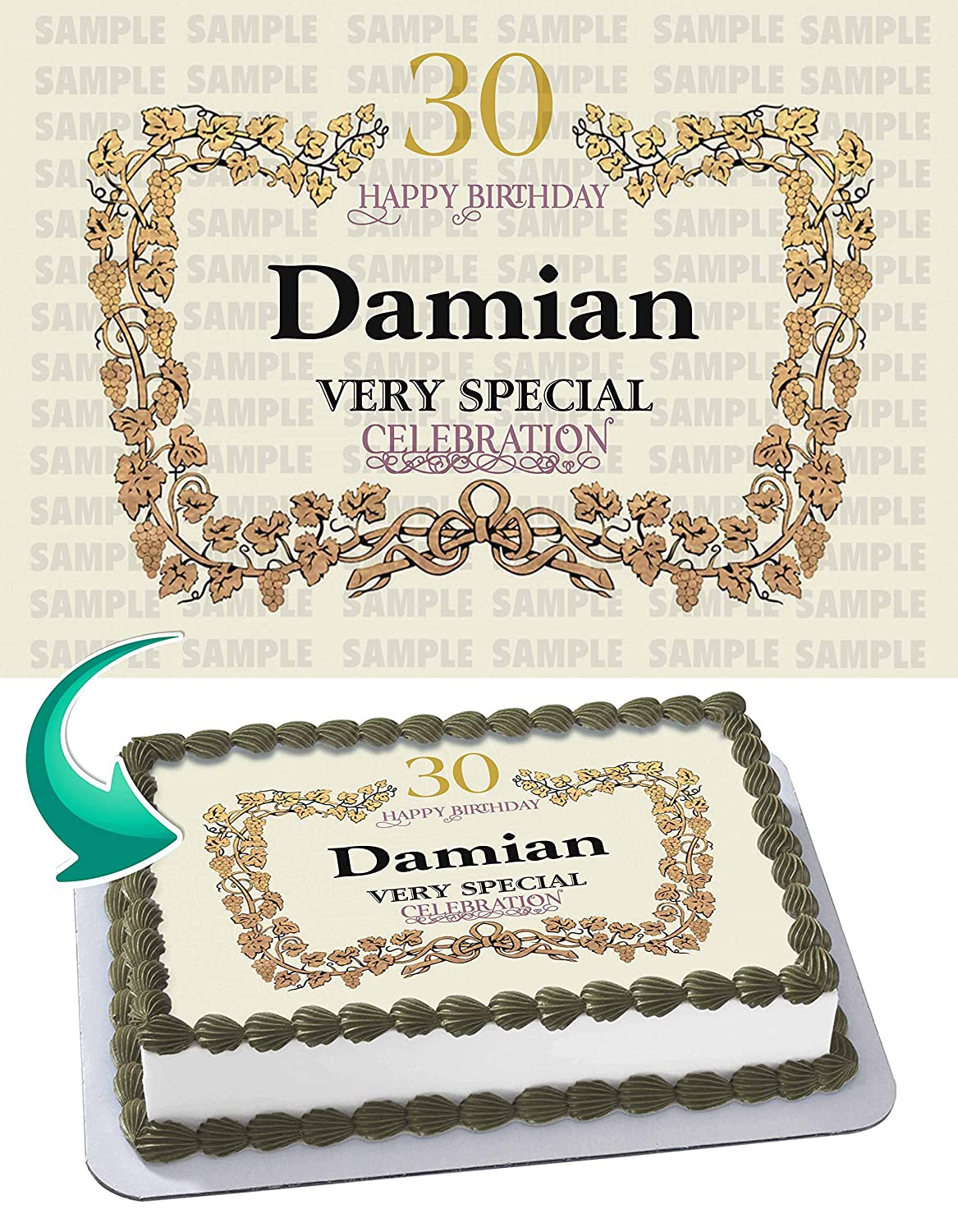 Hennessy label edible cake image topper personalized birthday 1 4 sheet custom sheet party