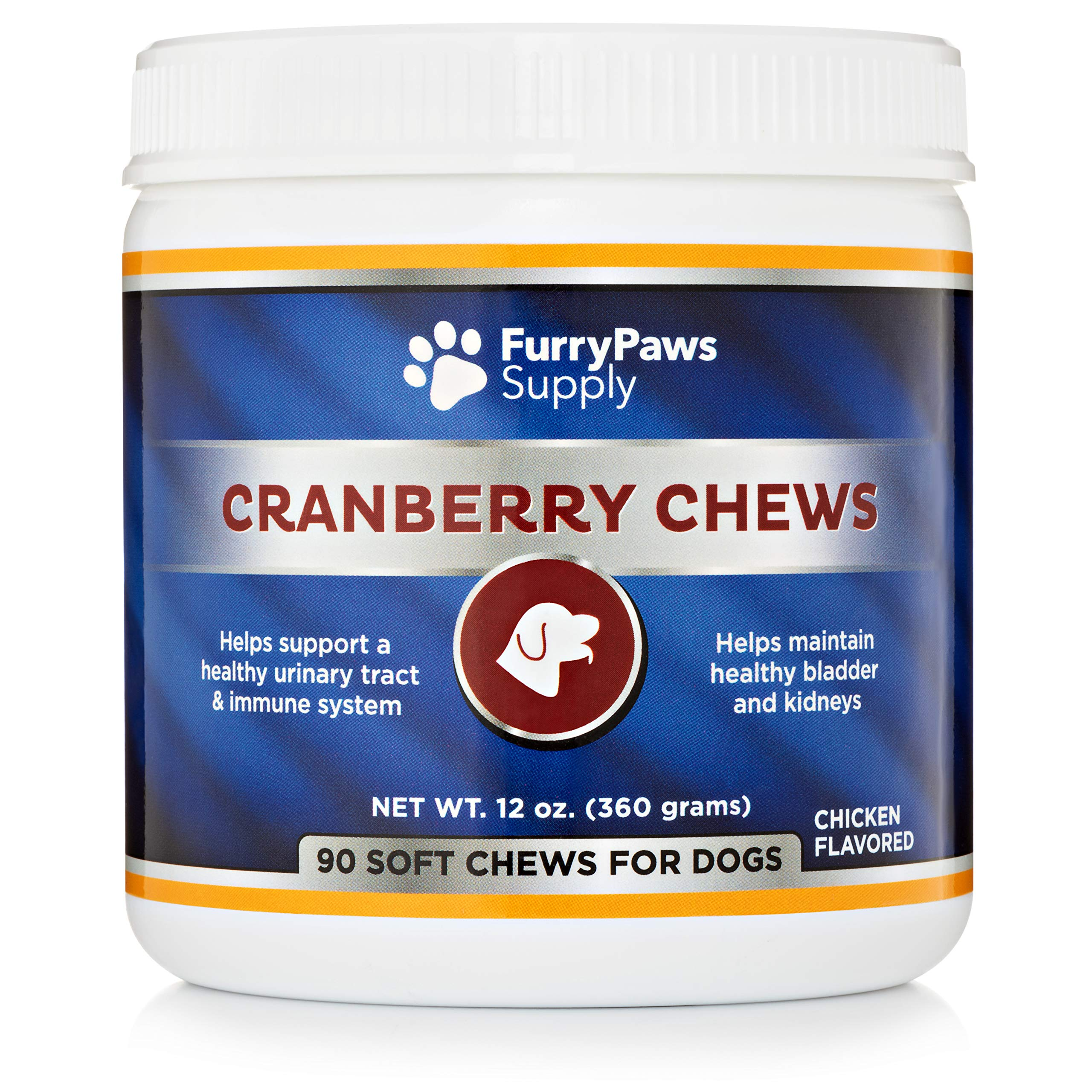 Furry Paws Cranberry Pills for Dogs - Dog UTI Treatment and Bladder Support by Furry Paws Supply
