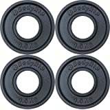 """BodyRip Cast Iron 2"""" Hole Weight Plates 4 x 0.5kg Franctions Discs Low Weights Home Gym"""