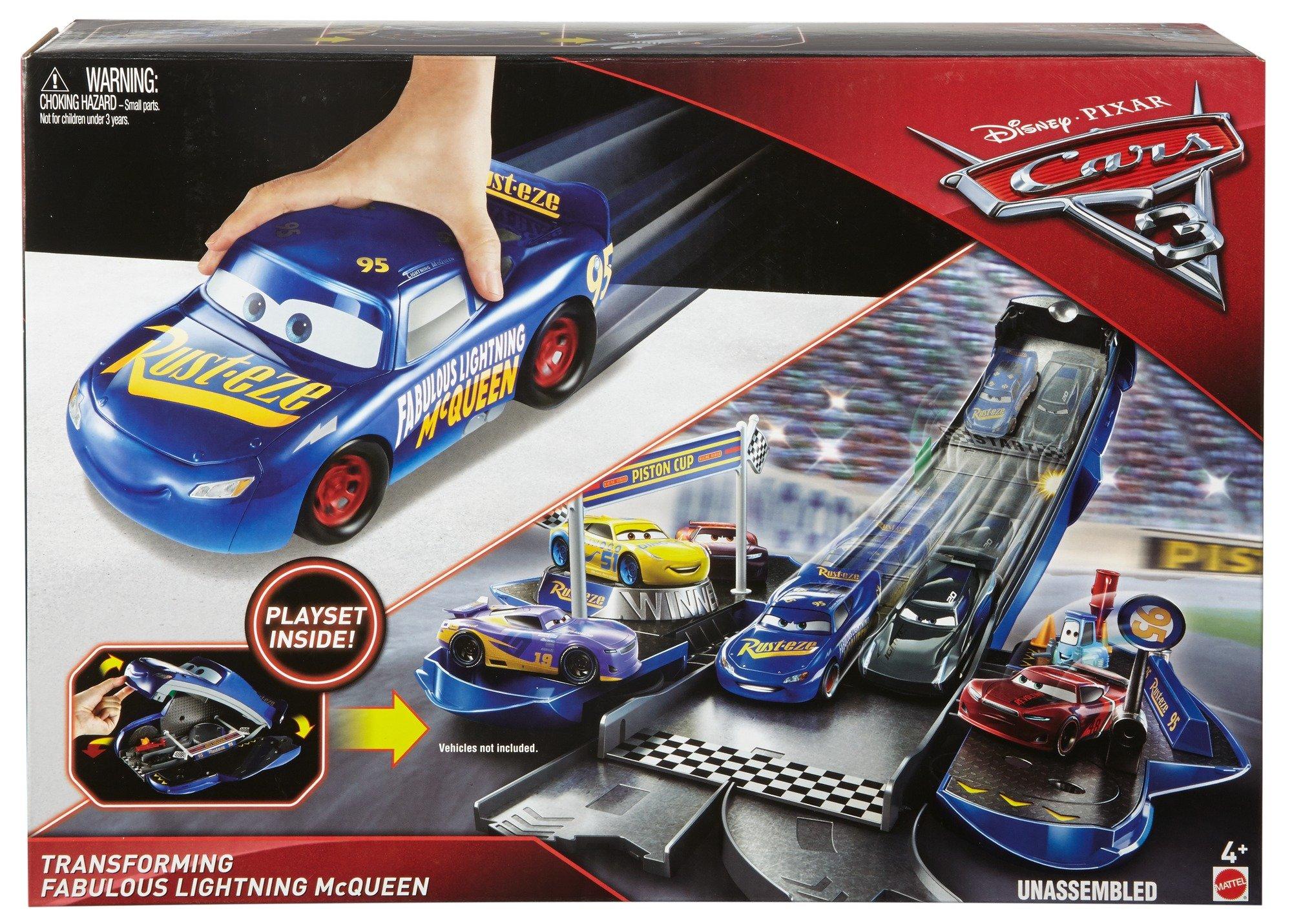 Disney/Pixar Cars 3 Transforming Fabulous Lightning McQueen Playset