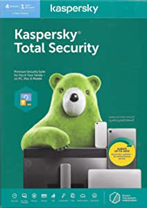 KASPERSKY TOTAL SECURITY 2020 - 4 USERS - AUTHENTIC MIDDLE EAST VERSION - 1 YEAR