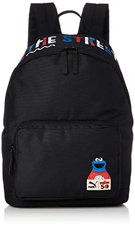 84aec3d8874 PUMA Kids' Sesame Street Backpack Sport Black, OSFA: Amazon.co.uk ...