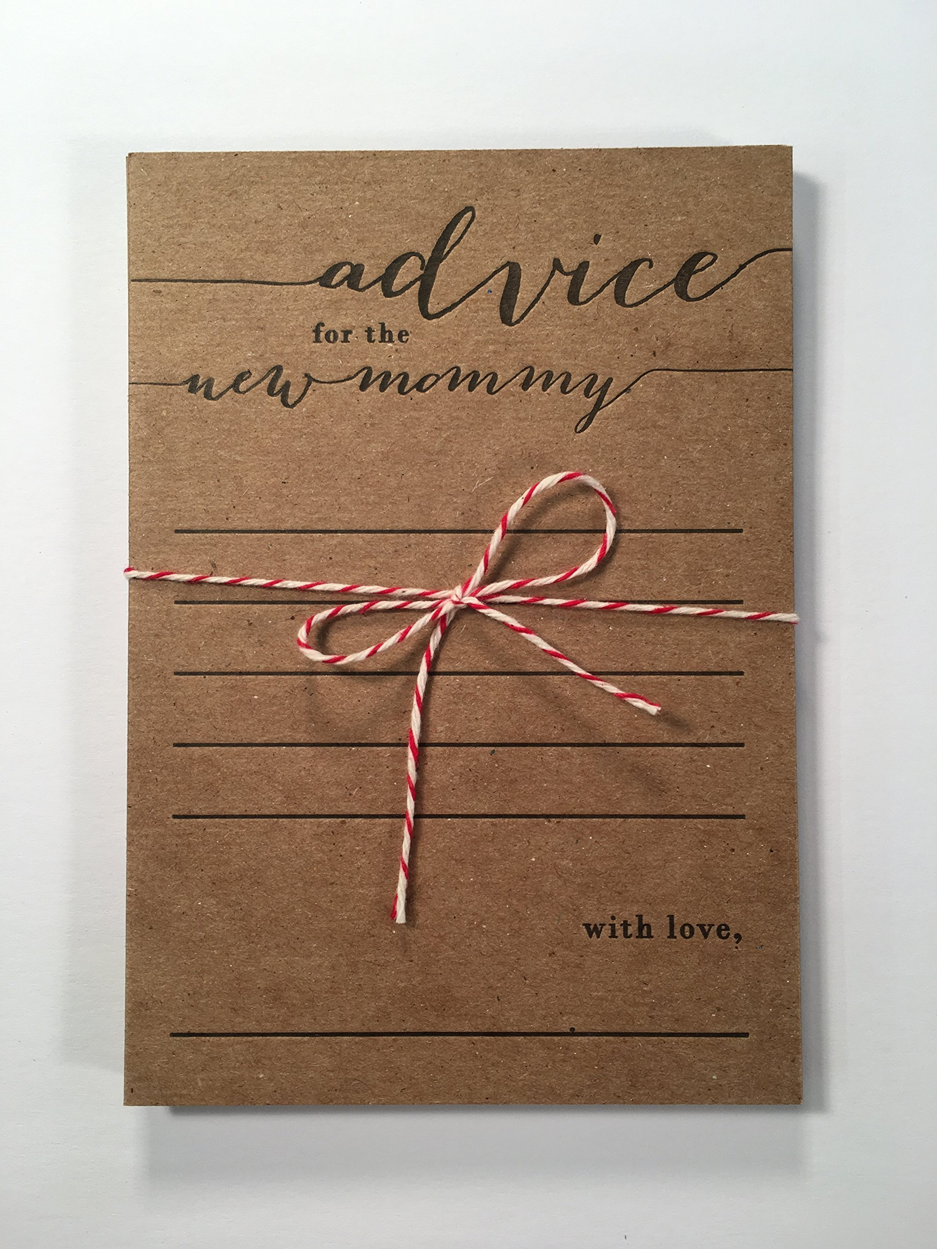 advice for the new mommy letterpress note card set, first time mom, baby shower, expecting mother