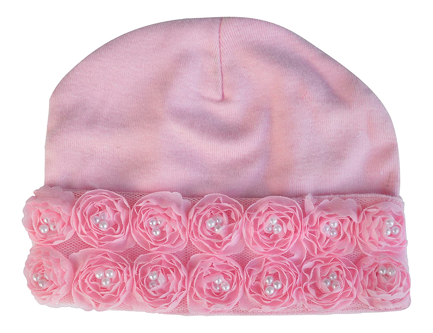 Amazon.com   PLH Bows Cotton Hat Small (pink)   Baby 8577af6526f