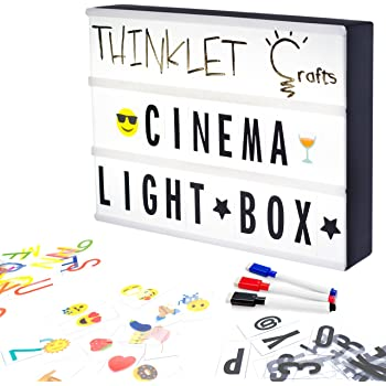amazon com my cinema lightbox the original led marquee light box
