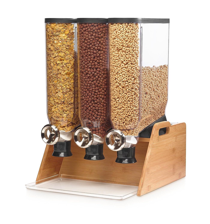 Rosseto DS102 Bulk Shop Triple Dispenser Bamboo