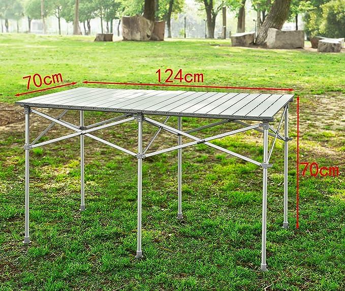 SoBuy Mesa Plegable Mesa de Camping Mesa de jardín: Amazon.es: Hogar