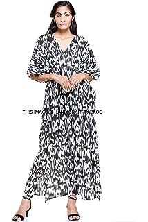 124c864ec1 New Malaya 100% Cotton Kaftan Dress Maxi Long Tunic Batik One Size Plus  Beach