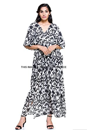 New Malaya 100% Cotton Kaftan Dress Maxi Long Tunic Batik One Size ...