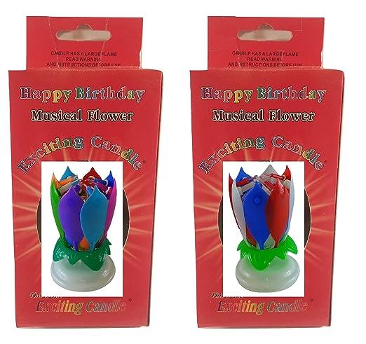 Flower Birthday Candle Velas de cumpleaños, 2 Unidades ...