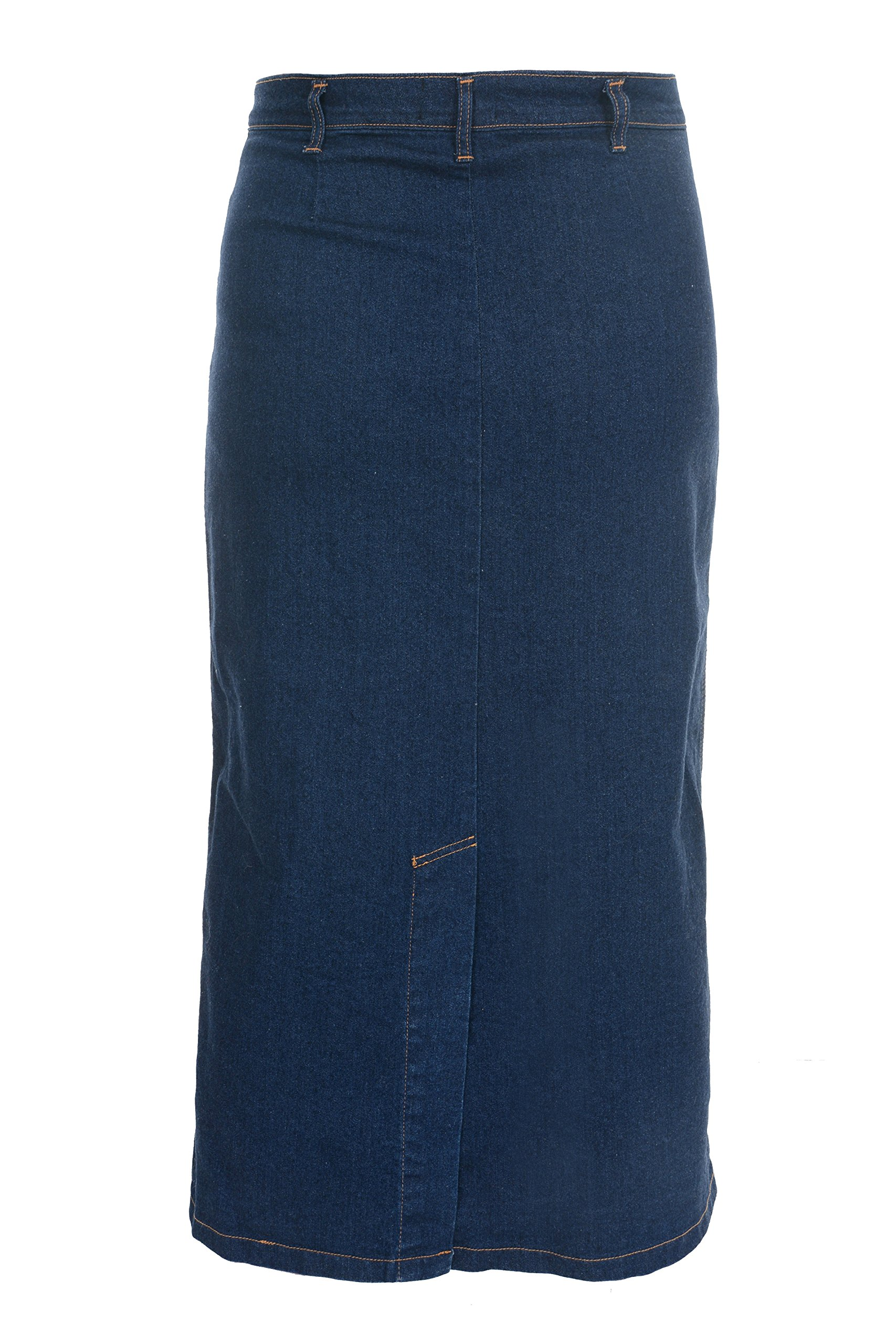 70269051593 Ice Cool Ladies Women s Indigo Stretch Denim Maxi Skirt Sizes 10 to ...