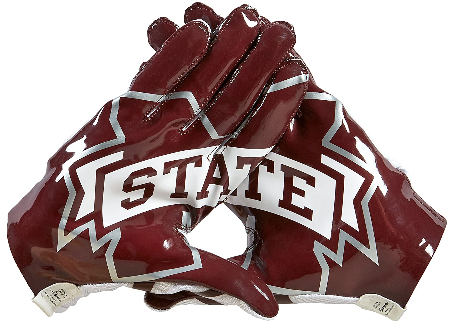 size 40 eb31b 427dc Amazon.com   NCAA Mississippi State Bulldogs Adizero 5-Star 6.0 Football  Gloves, White Maroon, X-Large   Sports   Outdoors