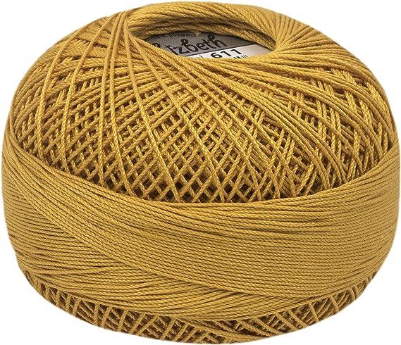 Handy Hands Crochet ALGODÓN SZ Oro, dorado, Talla 40: Amazon.es: Hogar