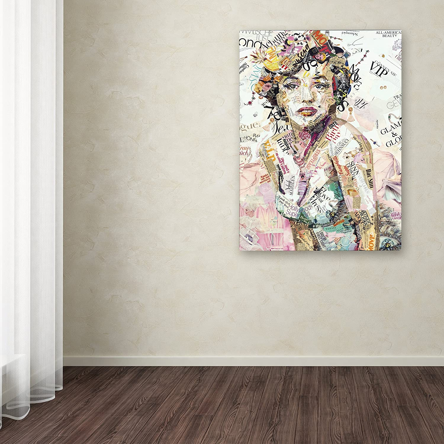 Glam Glory by Ines Kouidis Wall Decor, 18 by 24 Canvas Wall Art