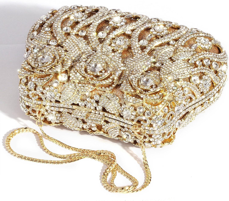 Color : Beige Kiahna Baggs Womens Full of Rhinestone Dinner Bag Bride Diamond Agate Stone Clutch Bag