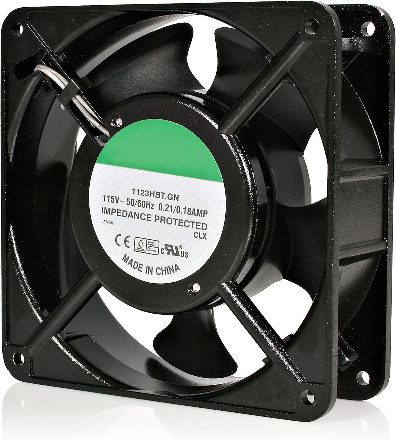 StarTech.com 120mm Axial Rack Muffin Fan for Server Cabinet - 115V - AC Cooling - Low Noise & Quiet PC Computer Case Fan (ACFANKIT12)