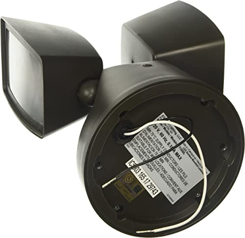 ALL-PRO Outdoor Security FT1850L 1000 lm LED Twin Head Flood Light, Bronze