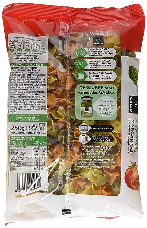 Espaguetis gallo pasta seca gallo margaritas vgt paquete 250gr: Amazon.es: Alimentación y bebidas