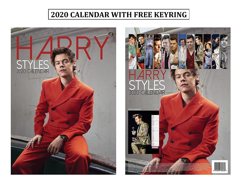 Ou Calendar 2020 Amazon.: Harry Styles Calendar 2020 + Harry Styles Keychain