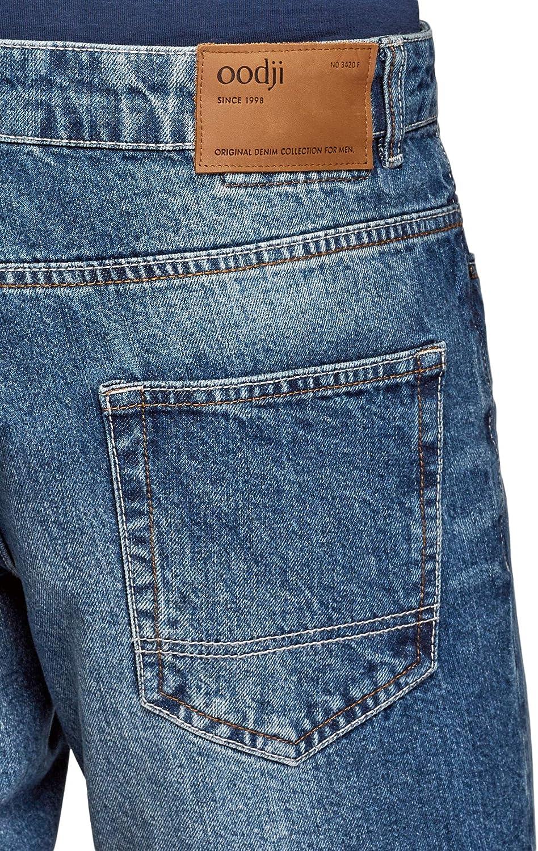 oodji Ultra Hombre Pantalones Cortos Vaqueros con Rasgaduras