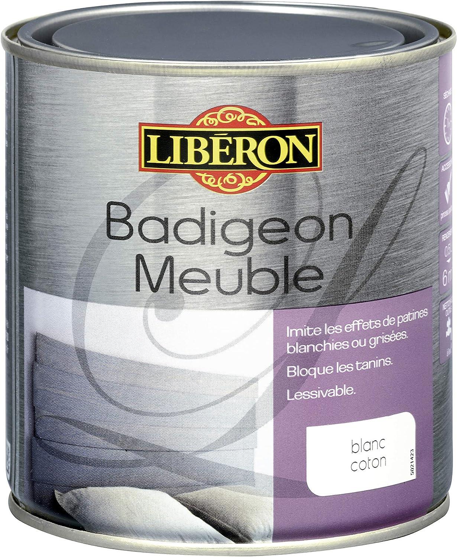 Liberon Badigeon Meuble Imite Les Effets De Patines Blanchies Ou Grisees Blanc Coton 0 5l