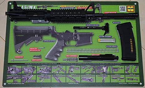 Amazoncom Tactical Atlas Ar 15 M4 M16 Gun Cleaning Mat Od Green
