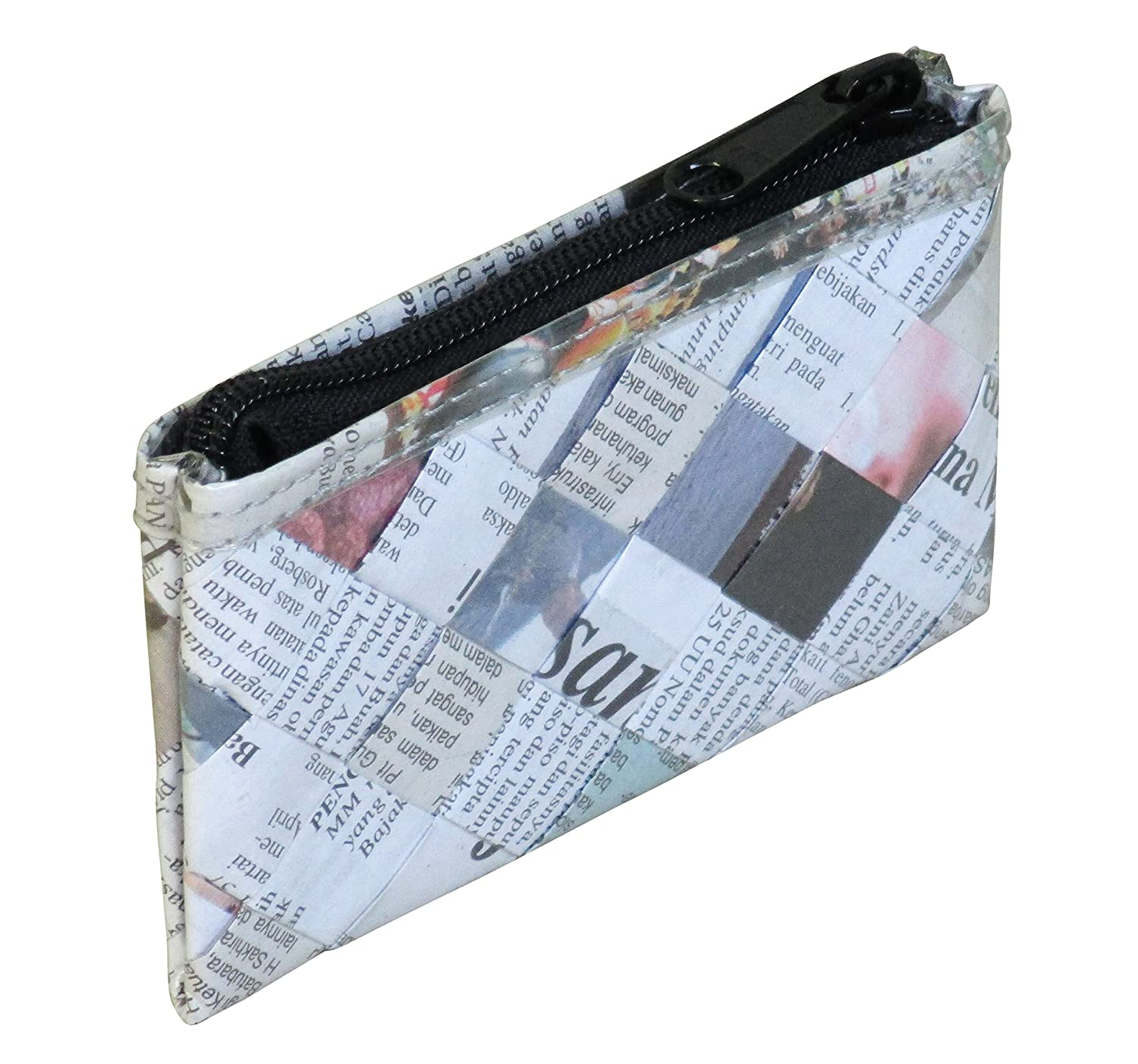 991cad15d70a Amazon.com  Zip coin purse using newspaper - FREE SHIPPING