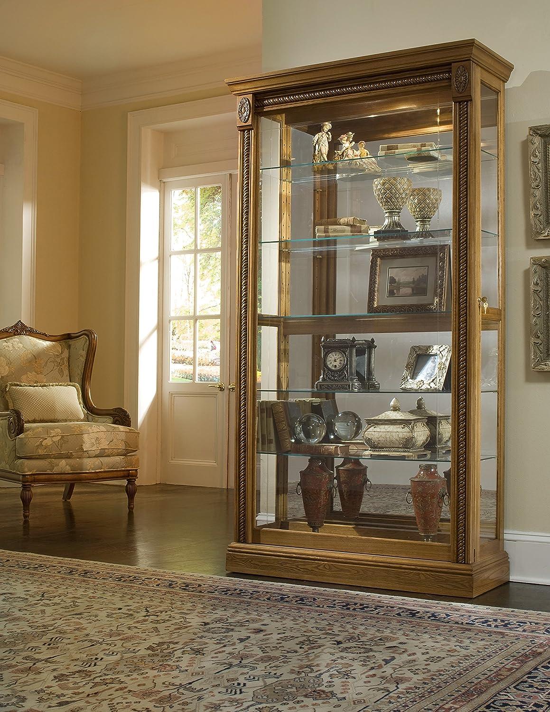 Amazon.com: Pulaski Two Way Sliding Door Curio, 43 by 17 by 80-Inch, Medium  Brown: Kitchen & Dining