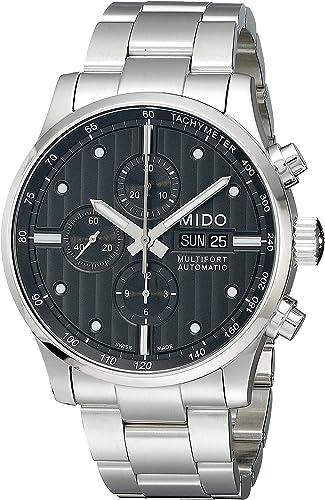 Mido multifort m0056141106100 - orologio da polso da uomo, cinturino in acciaio inox colore argento