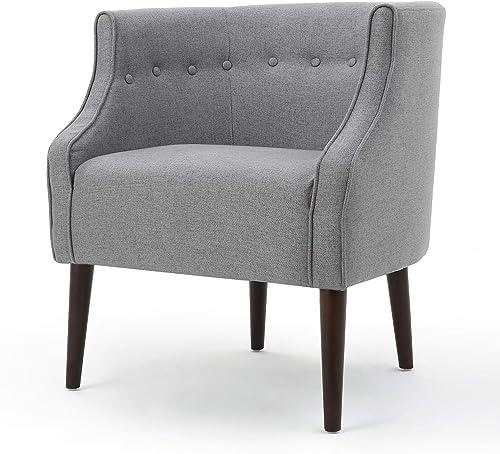 Christopher Knight Home Brandi Fabric Club Chair, Grey
