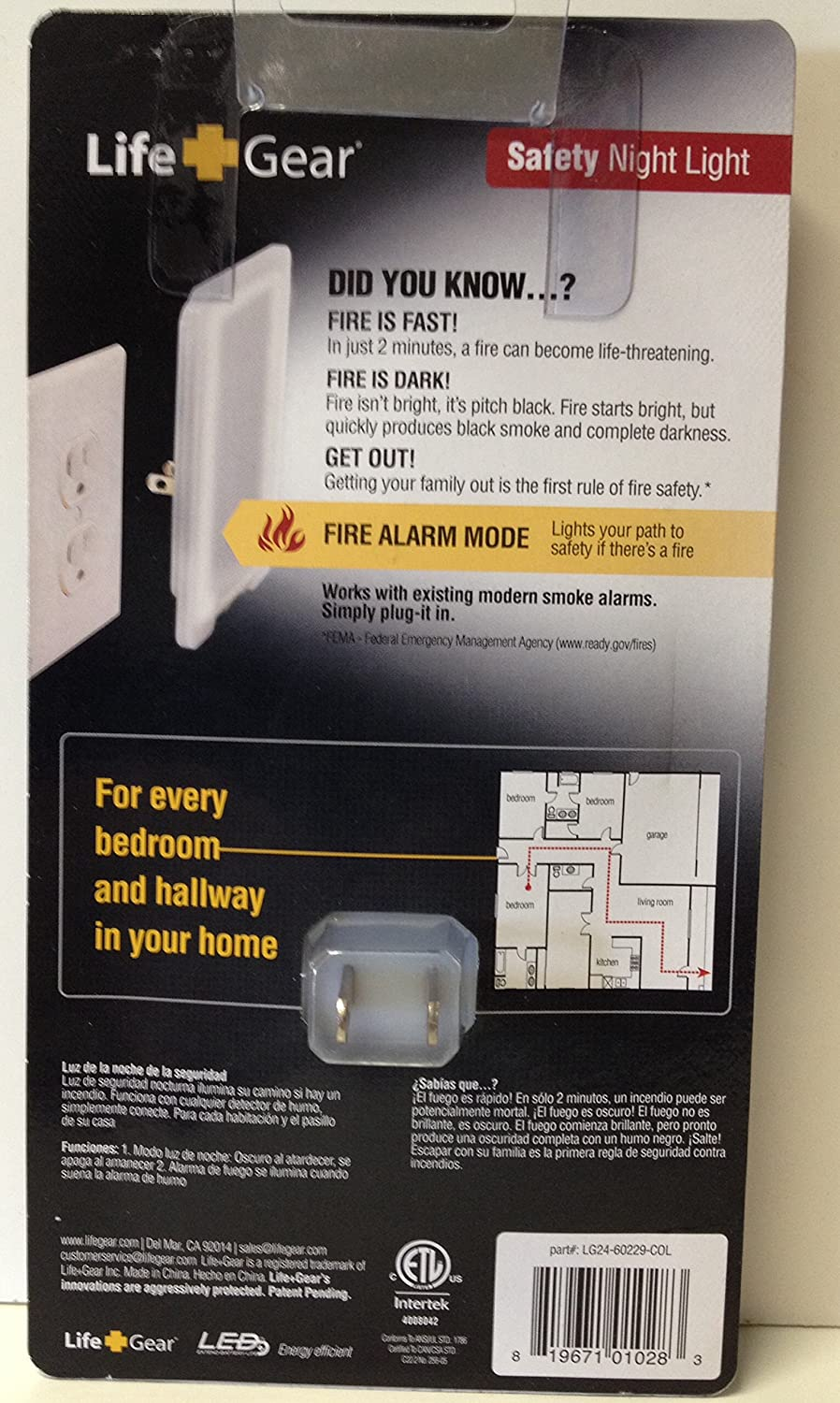 Life+Gear Fire Safety Night Light