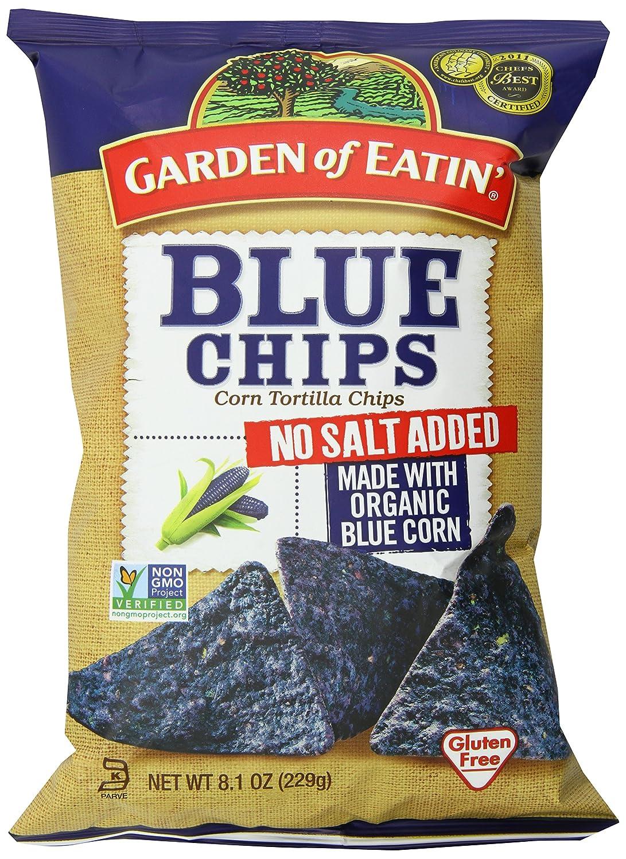 Garden of Eatin Blue Chips, No Salt, 8.1 Ounce