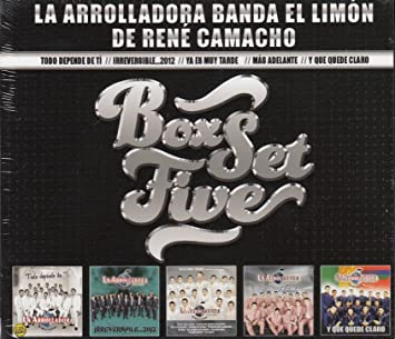 La Arrolladora Banda El Limon De Rene Camacho - La Arrolladora Banda El Limon De Rene Camacho Box Set Five 5cd - Amazon.com Music