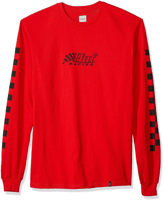 075efd902a457 HUF Men's Racing L/S Tee T-Shirt: Amazon.co.uk: Clothing