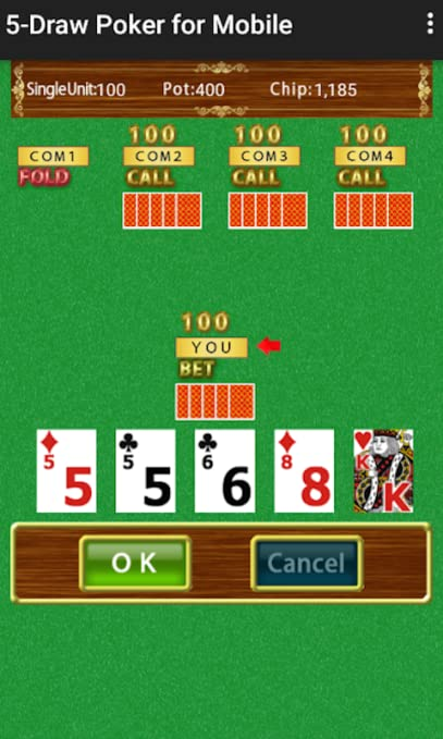 Amazon Com 5 Draw Poker For Mobile Real Casino Card Game Appstore