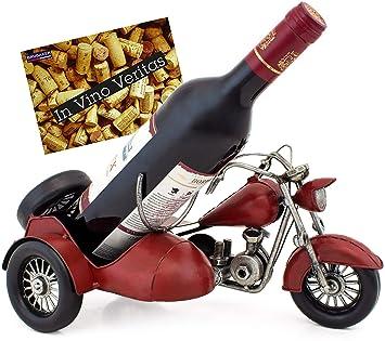 79c6967749 Brubaker Porte-Bouteille de vin - Moto Side-Car - Métal - Carte de ...